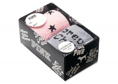 Victoria's Secret Pink Sherpa ponožky 2 páry (Strormy Grey)