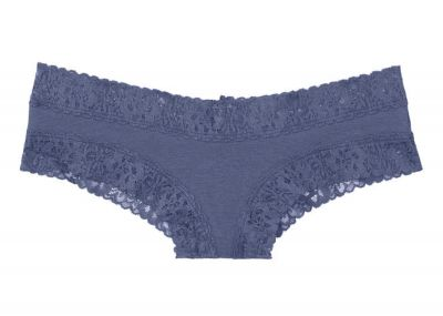 Kalhotky Brazilky Victorias Secret Cotton Lace (Crown Blue)