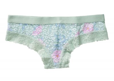 Kalhotky Brazilky Victorias Secret Pink Lace (Soft Sage Floral)