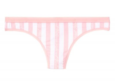 Kalhotky Tanga Victorias Secret Cotton Logo (Victoria Stripe)