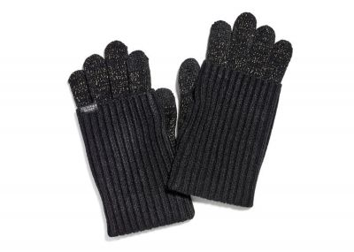 Pletené rukavice Victorias Secret (Black Shine)