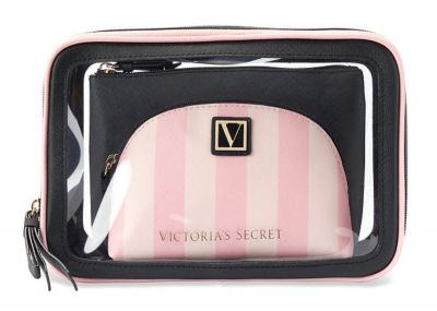 Trio kosmetických taštiček Victorias Secret (Victoria Stripe)